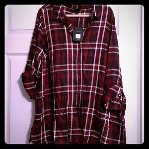 Lane Bryant Button Down Long Shirt Size 22/24